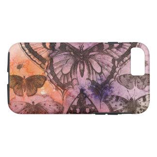 Funda Para iPhone 8/7 Caja púrpura del teléfono celular de las mariposas