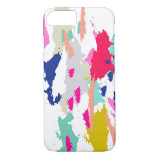 Funda Para iPhone 8/7 Caja rosada azulverde gráfica moderna del teléfono