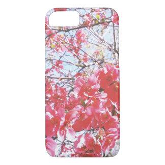 Funda Para iPhone 8/7 Caja rosada del teléfono de la flor