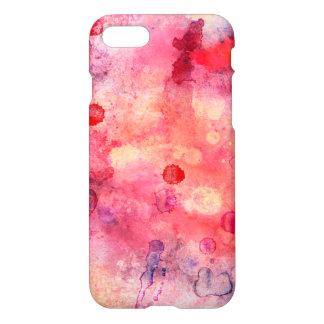 Funda Para iPhone 8/7 Caja rosada y roja del iphone 7 de la acuarela