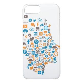 Funda Para iPhone 8/7 Caja social colorida del icono con los iconos