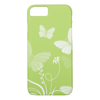 Funda Para iPhone 8/7 Caja verde del iPhone 7 de las mariposas