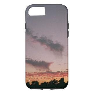 Funda Para iPhone 8/7 Caja violeta de Iphone de la puesta del sol
