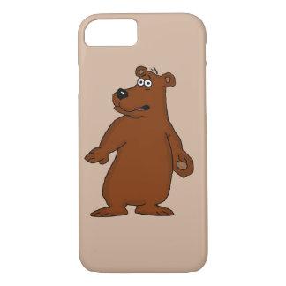 Funda Para iPhone 8/7 Cajas lindas del iPhone del diseño del oso marrón