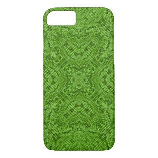 Funda Para iPhone 8/7 Cajas verdes del iPhone   del caleidoscopio que