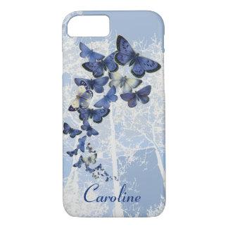 Funda Para iPhone 8/7 Caleidoscopio de encargo de mariposas azules