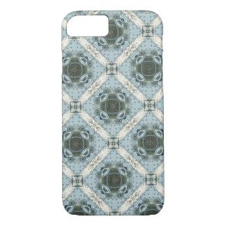 Funda Para iPhone 8/7 Caleidoscopio floral azul de las formas abstractas