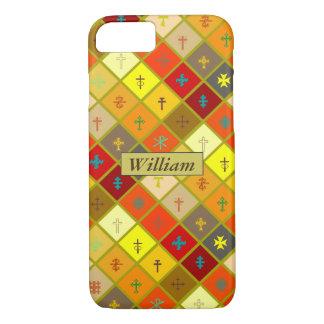 Funda Para iPhone 8/7 Caliente la tela escocesa coloreada con las cruces