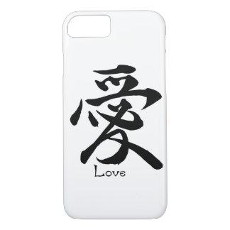 Funda Para iPhone 8/7 Caligrafía china japonesa del AMOR del símbolo del