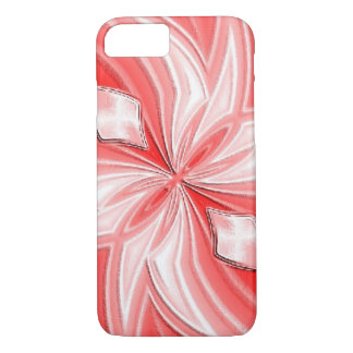 Funda Para iPhone 8/7 Caso abstracto rosado del iPhone del diseño