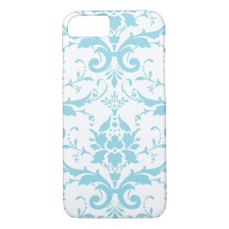 Funda Para iPhone 8/7 Caso azul claro del iPhone 7 del damasco