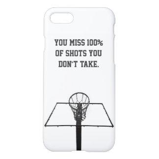 Funda Para iPhone 8/7 Caso/baloncesto minimalistas del iPhone inspirado