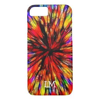 Funda Para iPhone 8/7 Caso con monograma de Starburst iPhone8 del batik