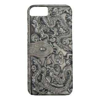 Funda Para iPhone 8/7 caso de plata antiguo del iPhone 7 del dragón