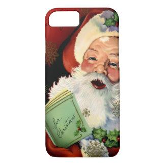Funda Para iPhone 8/7 Caso del iPhone 7 de Papá Noel Barely There