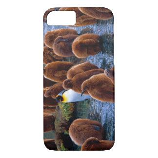 Funda Para iPhone 8/7 Caso del iPhone 7 del cuidado de día del pingüino