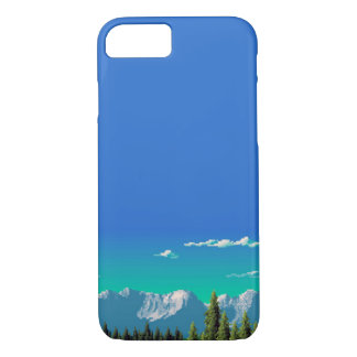 Funda Para iPhone 8/7 caso del iPhone 7 - montañas del pixel