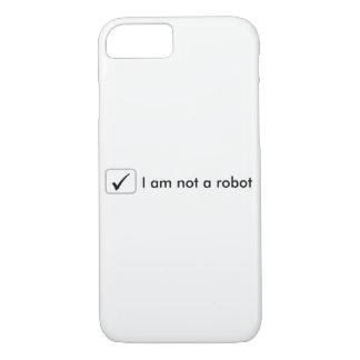 Funda Para iPhone 8/7 caso del iPhone 7 - no soy un robot - blanco