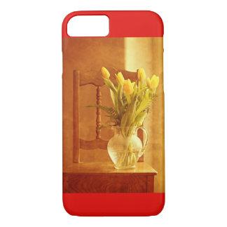 Funda Para iPhone 8/7 caso del iPhone 8 - ramo del tulipán en una silla