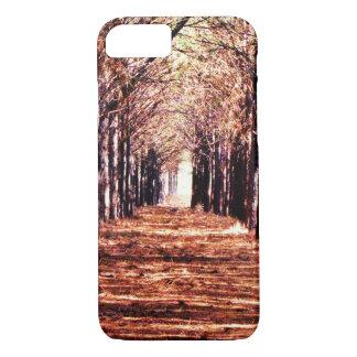 Funda Para iPhone 8/7 Caso del iPhone del bosque de los árboles de pino