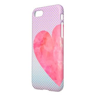 Funda Para iPhone 8/7 Caso del iPhone del corazón del Watercolour