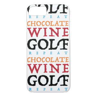 Funda Para iPhone 8/7 Caso del iPhone del golf del vino del chocolate