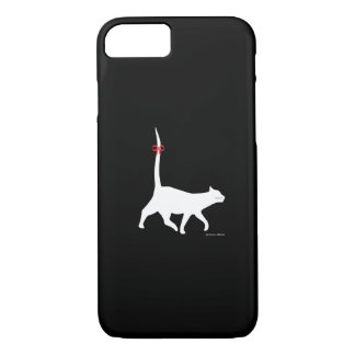 """Funda Para iPhone 8/7 Caso del iPhone del negro """"del paseo de gato"""