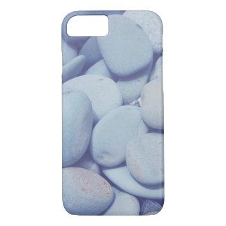 Funda Para iPhone 8/7 caso del iPhone, roca lisa del guijarro, roca azul