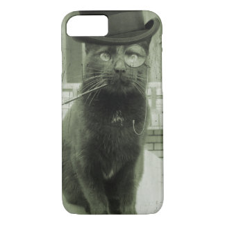 Funda Para iPhone 8/7 Caso divertido del iPhone del gato de Steampunk