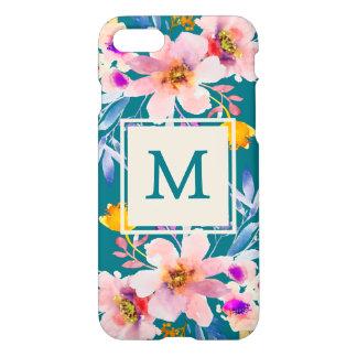 Funda Para iPhone 8/7 Caso floral del iPhone 7 de Zazzle de la acuarela