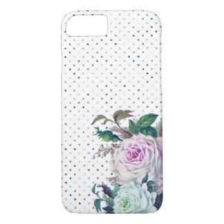 Funda Para iPhone 8/7 Caso floral y del lunar romántico moderno del