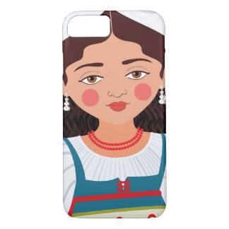 Funda Para iPhone 8/7 Caso italiano de Matryoshka del chica