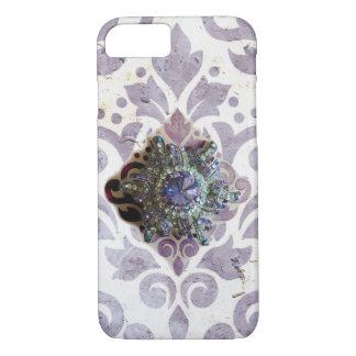 Funda Para iPhone 8/7 Caso jeweled voluta púrpura del iPhone