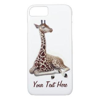 Funda Para iPhone 8/7 Caso joven del iPhone 7 de la jirafa en descanso