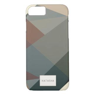Funda Para iPhone 8/7 Caso moderno, abstracto del iPhone 7 de Brown