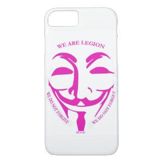 Funda Para iPhone 8/7 Caso rosado de Iphon 7 con la decoración anónima