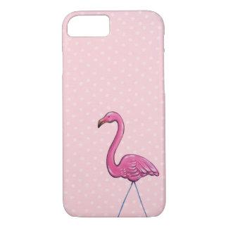 Funda Para iPhone 8/7 Caso rosado de Iphone del lunar del flamenco
