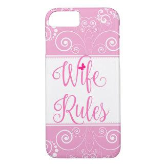 Funda Para iPhone 8/7 Caso rosado de las reglas de la esposa del