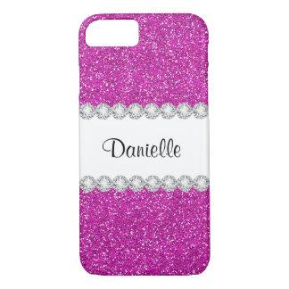 Funda Para iPhone 8/7 Caso rosado femenino de encargo del iPhone 7 de la