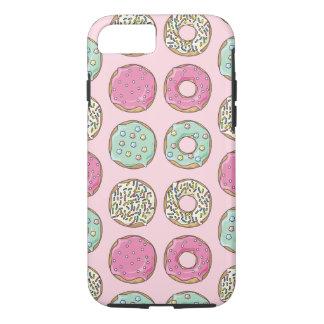 Funda Para iPhone 8/7 Caso rosado y de la menta del buñuelo de la