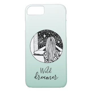 Funda Para iPhone 8/7 Caso salvaje del iPhone de la galaxia del soñador