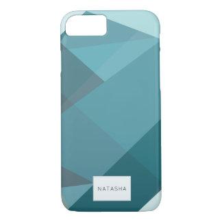 Funda Para iPhone 8/7 Caso verde azulado moderno, abstracto del iPhone 7