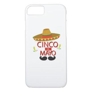 Funda Para iPhone 8/7 Celebración mexicana linda del día de fiesta de