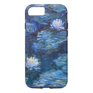 Funda Para iPhone 8/7 Charca del lirio de agua en la bella arte azul de