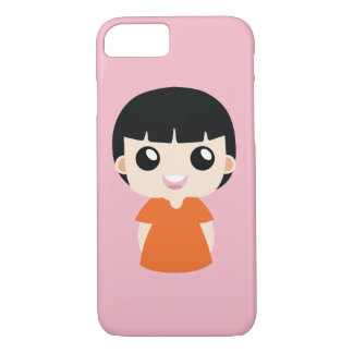Funda Para iPhone 8/7 Chica anaranjado