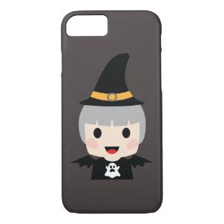 Funda Para iPhone 8/7 Chica del palo de Halloween