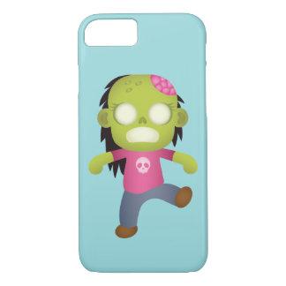 Funda Para iPhone 8/7 Chica lindo del zombi del dibujo animado