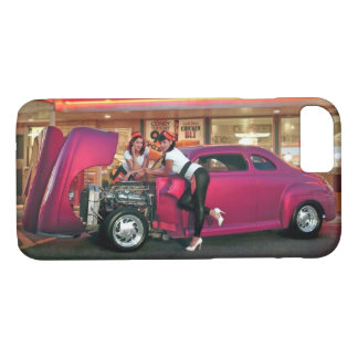 Funda Para iPhone 8/7 Chica modelo del comensal de Hotrod del salto