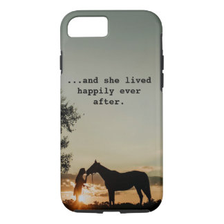 Funda Para iPhone 8/7 Chica que besaba el caballo ella vivió feliz