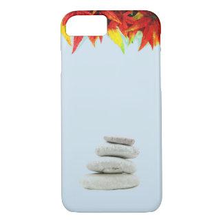 Funda Para iPhone 8/7 Cielos azules, hojas coloridas, y piedras